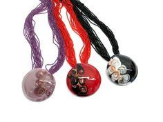$73 Italian Murano Glass Pendant, info@bijuterie-online.ro Glass Necklace, Glass Jewelry, Pendant Jewelry, Washer Necklace, Jewelry Necklaces, Jewellery, Murano Glass, Glass Pendants, Handmade Jewelry
