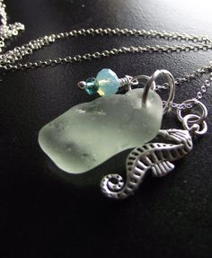 Sea Glass Jewelry  Cluster Necklace by Sea Find by SeaFindDesigns