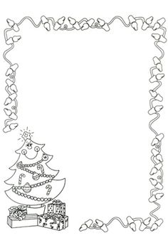 Black And White Christmas Border Clipart - Christmas Border, Christmas Frames, Noel Christmas, Christmas Colors, White Christmas, Christmas Activities, Christmas Crafts For Kids, Christmas Printables, Christmas Decorations
