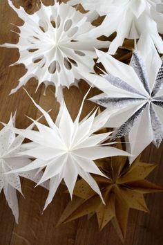 Butterbrottüten-Sterne 2.0 | Wie die einfachste Weihnachtsdeko ever noch schöner wird