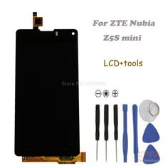 24.88$  Buy here - http://aliepf.shopchina.info/go.php?t=32789749082 - New LCD display+touch screen digiziter For ZTE Nubia Z5S mini NX403A NX404H black free shipping 24.88$ #buyininternet