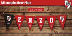 #Banderines de cumple con el nombre, más banderines extras #river #cumple #kitboy #futbol #miah Ideas Para Fiestas, Plates, Gerbera, Birthday Bunting, Football Invitations, Mine Craft Birthday, Ideas Party, Licence Plates, Dishes