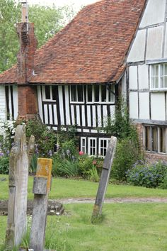 cottages by the village church, Smarden, Kent.