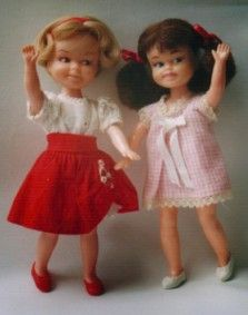 Little Tuppence and Posing Penny. My childhood dolls.