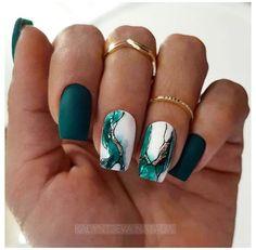 Best Acrylic Nails, Acrylic Nail Designs, Dark Nail Designs, Green Nail Designs, Winter Acrylic Nails, Latest Nail Designs, Popular Nail Designs, Popular Nail Art, Latest Nail Art