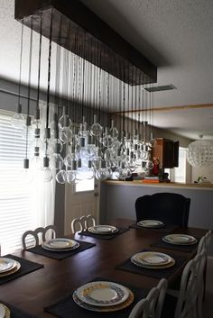 diy dining room light    Love this! I need to wire some lights....