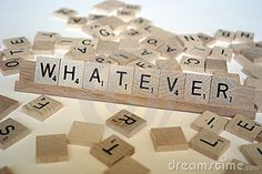 whatever in scrabble  - Pinned by Idea Concept Design.nl