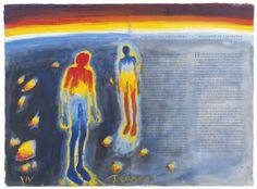 Frans Widerberg (Norvège, 1934-) – Alkymistiske akvareller XIV (1982-1985)