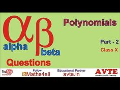 Alpha Beta Questions for Polynomials Part 2 - YouTube