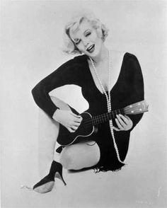 Marilyn Monroe with her ukulele for Some Like it Hot