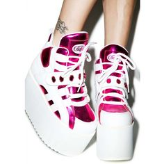 5c24131891e These supa cute platforms feature pink metallic
