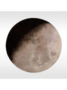 for space themed room: moon rug
