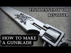 FF8 | Gunblade Tutorial | How to make a Gunblade | Gunblade Prop | Cosplay | Squall Leonhart - YouTube