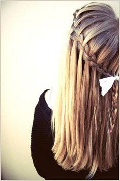 Waterfall Braid Hair.
