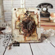 Retro Kraft Shop: Retro Inspiracje: Żurnalowa okładka / Retro Inspirations: Journal cover