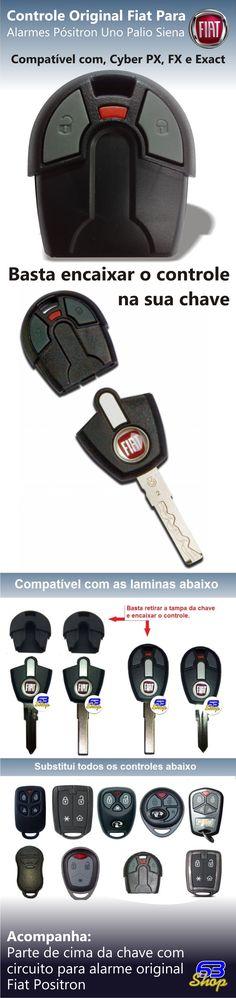 Controle Chave Original Fiat Alarmes Pósitron Strada Palio - R$ 39,90 em Mercado Livre