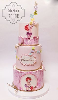 Vintage baby girl cake