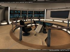 Bridge of Constitution-class (refit) starship
