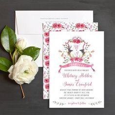 Woodland Romance Wedding Invitations by Emily Crawford   Elli