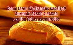 Aprenda como fazer fácil o melhor pão francês caseiro. Ingredientes, modo de preparo e principais segredos da receita de pão francês em casa.