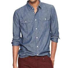 Gap x GQ Ernest Alexander Chambray Shirt