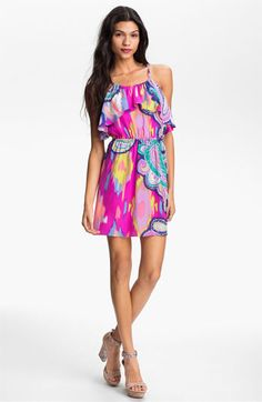 ALICE & TRIXIE 'Maggie' Print Silk Charmeuse Dress available at Nordstrom