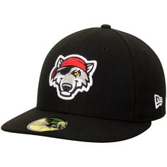 Men s Erie SeaWolves New Era Black Home Authentic Collection On-Field Low  Profile 59FIFTY Fitted Hat 65c908118e69