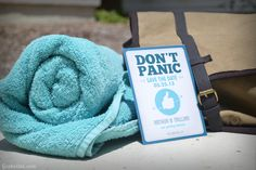 Forty Two Save the Date - roll your own towel!