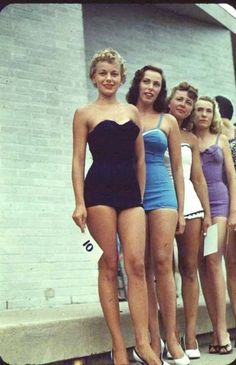 bathing suit contest ,1950