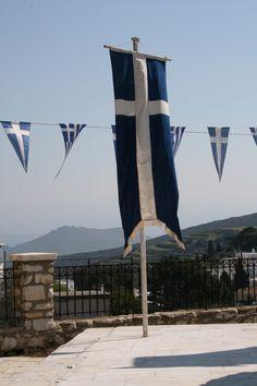 Flying the Greek Flags - Greece