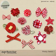 CU Pretty Sweet Vol. 1 by #eqrAveziur.  Tiny bows and ribbons perfect for making clusters and crafts.  #theStudio, #digiscrap