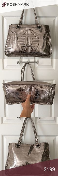 Antonio Melani Silver Leather Shoulder Bag Mass posting.  Will add description shorty.  If you have any questions before description is added please message me  ANTONIO MELANI Bags Shoulder Bags