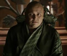 Game of Thrones, Varys the Spider. I can not figure out if I like him or not.  Still reading to find out.