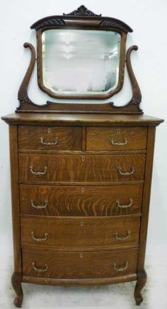Early 1900's antique oak chest of drawers.  To go with my antique oak desk.  Never hurts to dream!