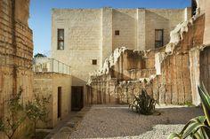 #CaveBianche #hotel in #Favignana, inside calcerenite rocks