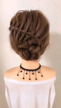 Easy Hairstyles For Long Hair, Diy Hairstyles, Beautiful Hairstyles, Updo Hairstyle, Hairstyles Videos, Simple Hairstyles For Long Hair, Simple Hairstyle Video, Curly Hair Easy Updo, Hairstyle For Women