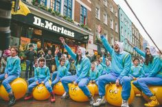 Dr. Martens X Adventure Time Bounce Mob on Carnaby Street.