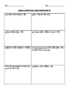 Simplifying Expressions (Distribute & Combine Like Terms) Bingo ...