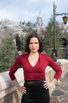 Lana in Fantasyland in the Magic Kingdom in Disney World for her awesome commercial Once Upon A Time in the Magic Kingdom : Behind the scenes with the Evil Queen 3-20-31-13