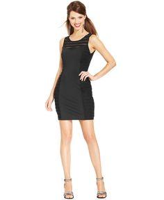 GUESS Illusion Mesh Racerback Sheath - Dresses - Women - Macy's