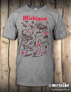 Animal Tracks - Mens T-Shirt - Premium Heather – The Michigan Outfitter