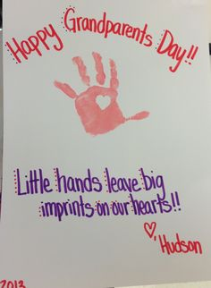 Grandparents day gift Daycare Crafts, Baby Crafts, Toddler Crafts, Preschool Crafts, Crafts For Kids, Classroom Crafts, Daycare Ideas, Preschool Ideas, Toddler Activities