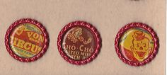 VINTAGE CIRCUS CLOWNS (3) Red Flat Bottle Cap Accents HANDMADE