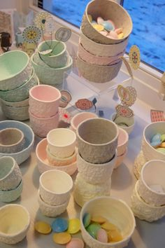 Miniature Dollhouse Dishes #PaperMache