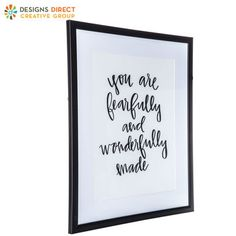 You Are Fearfully Made Framed Wall Decor