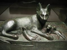 Bast and Kittens - Cats in ancient Egyptian Art