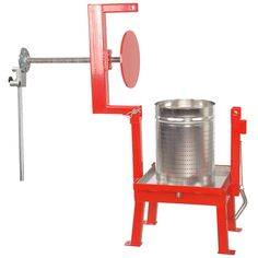 Heavy steel Maximizer® fruit press apple cider press with stainless basket Apple Cider Press, Coffe Machine, Wine Press, Cider Making, Homemade Beer, Punch Recipes, Metal Projects, Wine And Beer, Fruit And Veg
