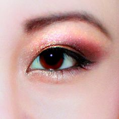 orange and red eyeshadow for asian eyes