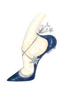 Poppy Delevingne X Aquazzura Collaboration Sketch Shoes