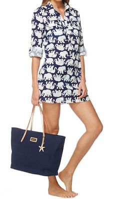 Lilly Pulitzer Captiva Tunic Cover-Up in Tusk In Sun